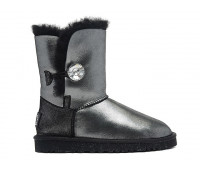 KIDS Bailey Button I Do Sheepskin Black