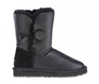 KIDS Bailey Button Metallic Black