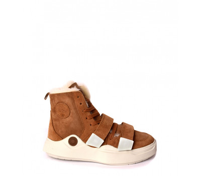 UGG SNEAKERS SIOUX TRAINER CHESTNUT